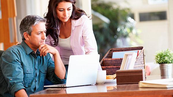 Unternehmerpaar in Konflikt