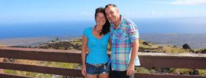 Sandra und Robert Hornsteiner mit Ausblick aufs Meer