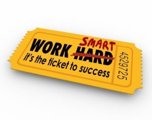 Eintrittskarte work smart - it´s the ticket to success