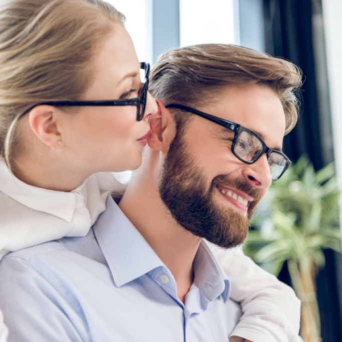 Pärchen nach Streßbewältigung und Kommunikation