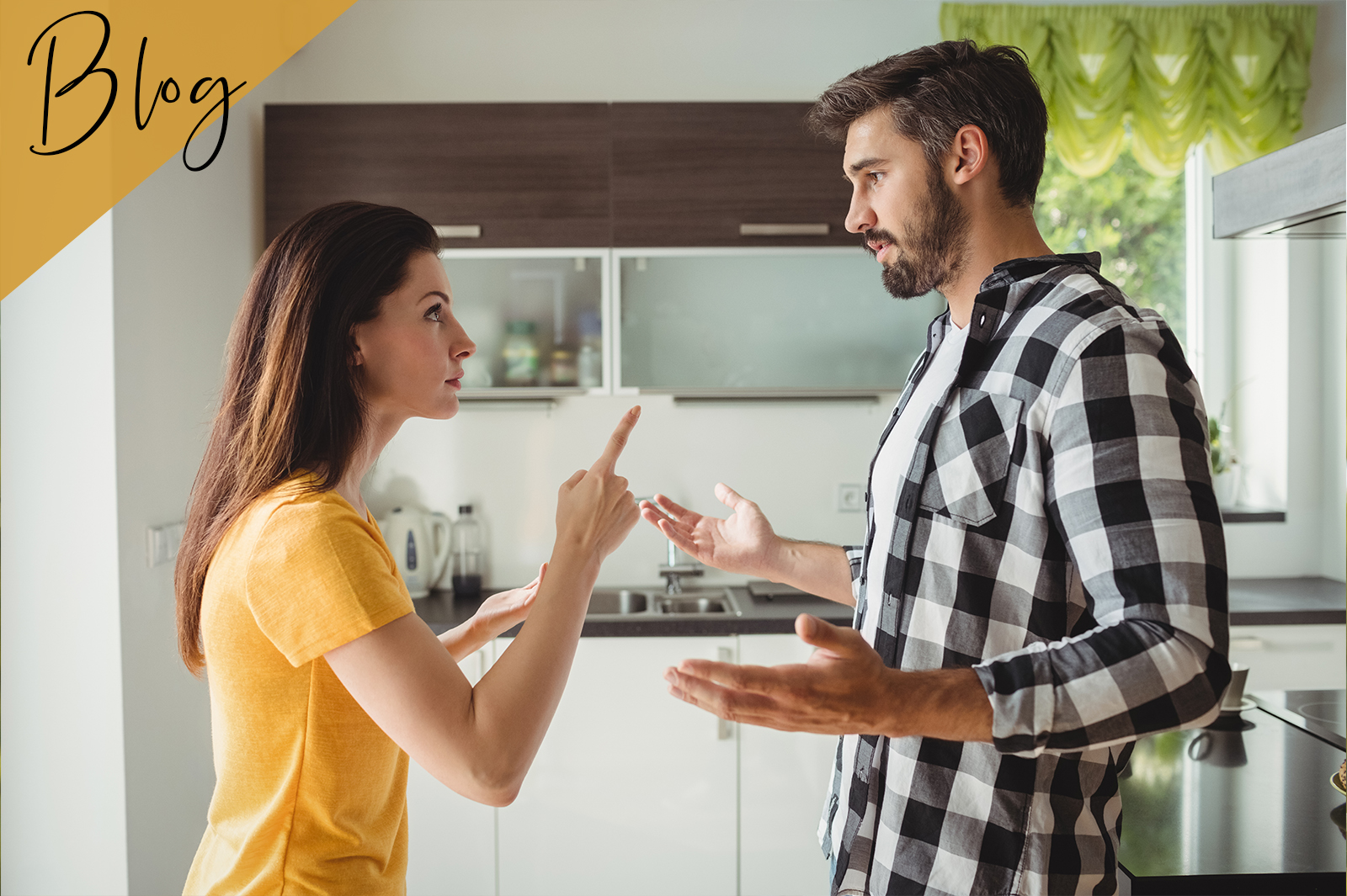 Paar streitet heftig miteinander